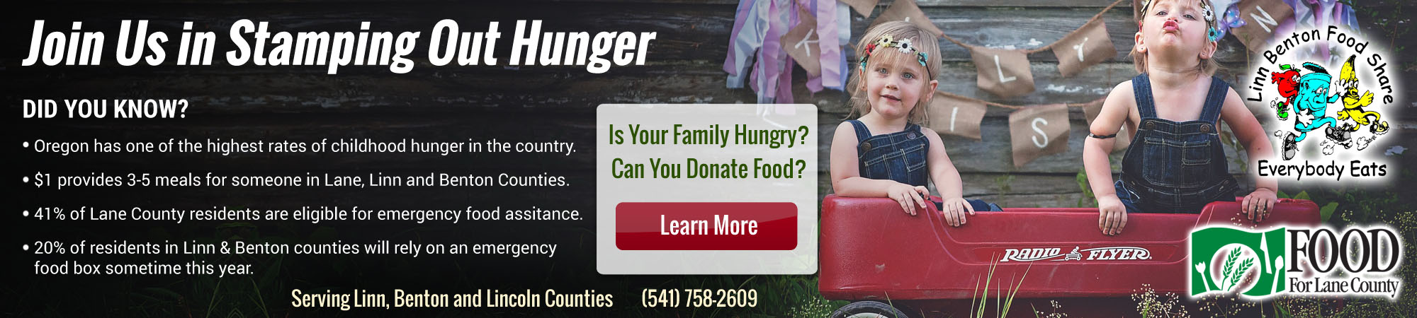 Hendrix Heating & Air Conditioning Furnace repair service of Corvallis OR wants to stamp out hunger!