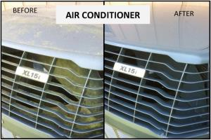 Air Conditioner Cleaning Before and After