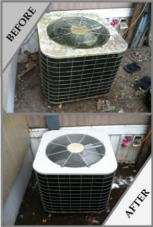 Coleman Intertherm Before and After Cleaning
