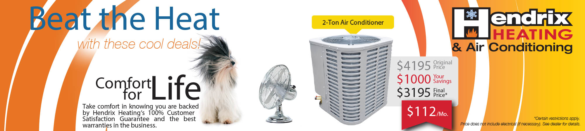 Hendrix Heating & Air Conditioning, ready to service your Air Conditioner in Albany OR
